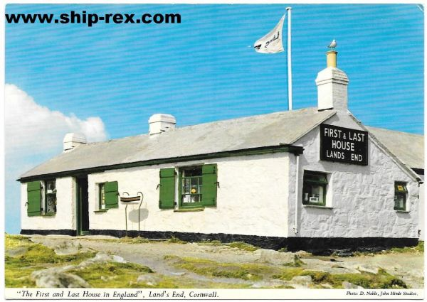 Land's End, First & Last House - John Hinde postcard
